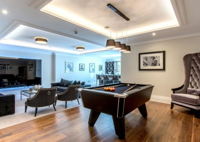 TV Area and Pool Table