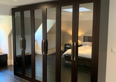 Fitted Wardrobes Dark Wood Side Profile